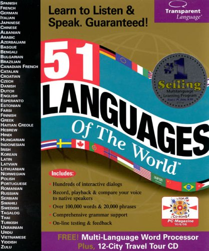 51 languages of the World, Transparent Language - BMSoftware