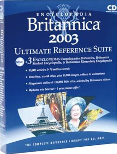 Encyclopedia Britannica 2003 Ultimate Reference Suite box