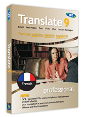 LEC Translate French Pro Edition box